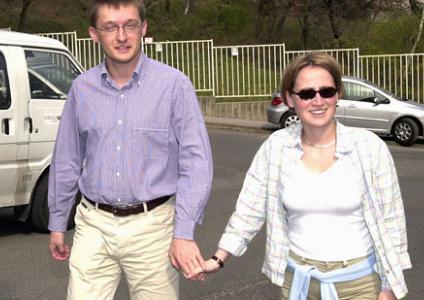 Rogán és felesége 2002-ben  foto: MTI/Tóth Gyula