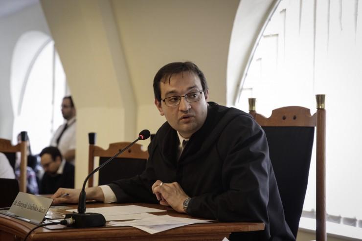 Hornyák Szabolcs bíró Gulyásék tárgyalásán (Fotó: Németh Dániel / Magyar Narancs)