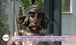 Hunyadi János szobra a Belgrádhoz tartozó Zimonyban (M1 Híradó)
