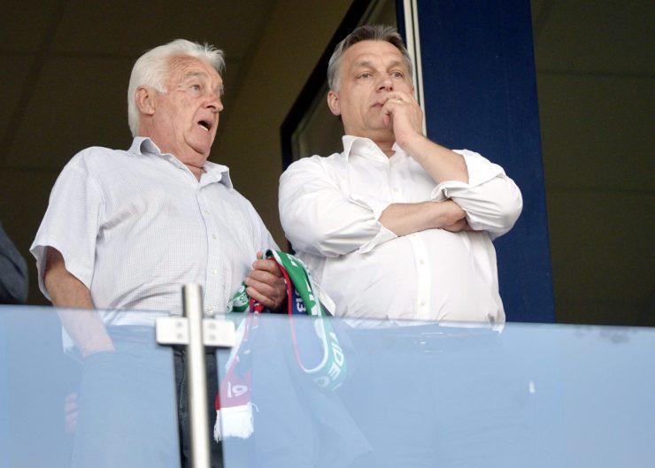 Orbán Viktor és édesapja, Orbán Győző (MTI Fotó: Beliczay László)
